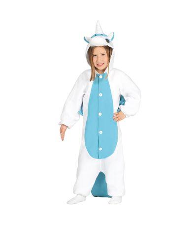 Deguisement-Pyjama-Licorne-Bleu
