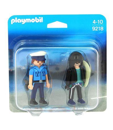 Playmobil-DuoPack-Policier-et-Voleur