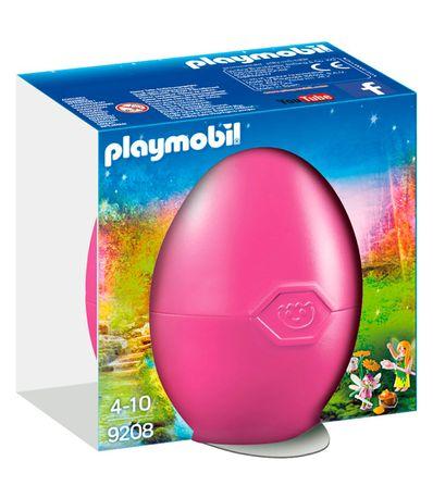 Playmobil-Fairies-Oeuf-rose-Fairy-avec-baguette-magique