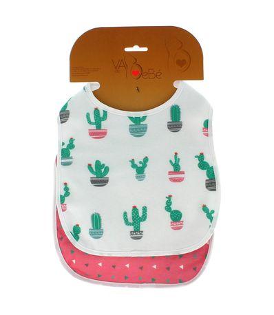Pack-2-Baberos-Rizo-con-Velcro-Cactus-Rosa