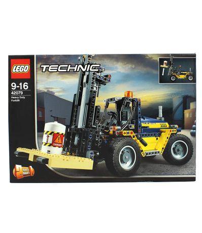 Lego-Technic-Trator-com-Placa-Elevadora