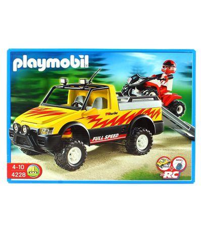Playmobil-Pick-up-avec-Racing-Quad