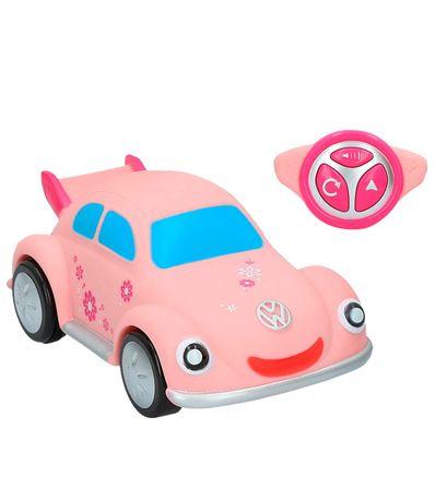Voiture-de-ville-de-moteur-Volkswagen-Beetle-Rosa-R---C
