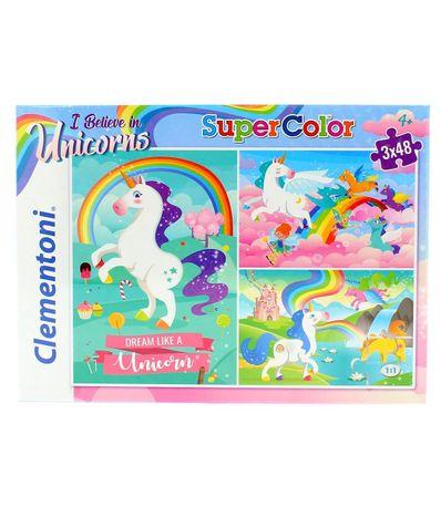 Puzzles-I-Believe-in-Unicorns-3x48-Piezas