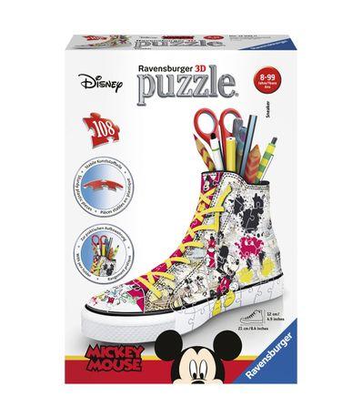 Mickey-Mouse-Puzzle-3D-Zapatilla-Lapicero