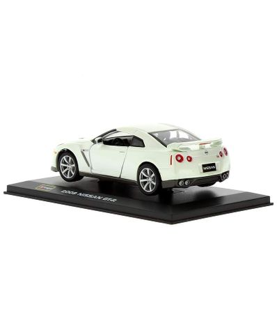 Coche-Miniatura-Nissan-GT-R-Peana-y-caja-Escala-1-32-Plus