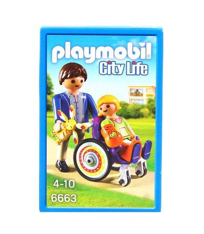 Playmobil-Enfant-avec-fauteuil-roulant-et-papa