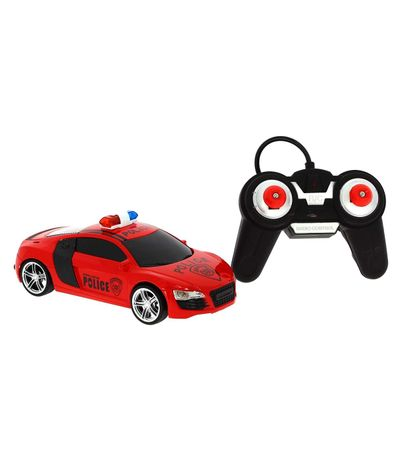 Coche-R-C-Audi-Police-Rojo-Escala-1-24
