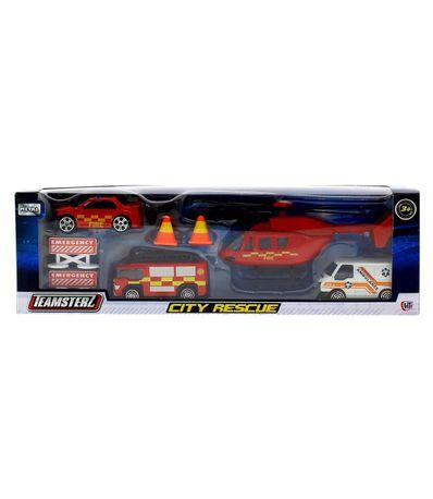 Teamsterz-Vehiculos-de-Obra-Rojos