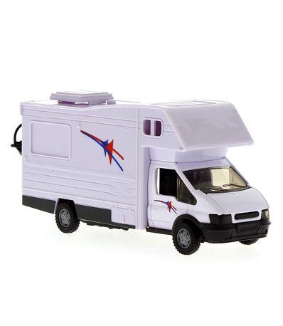 Auto-Caravana-Miniatura-Blanca-Escala-1-48