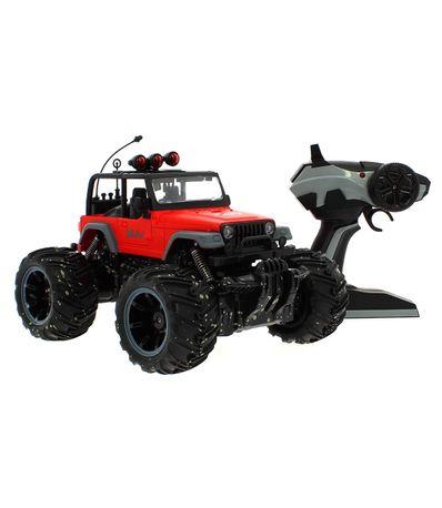 Coche-4x4-Mud-Off--Road-Rojo-a-Escala-1-16-R-C