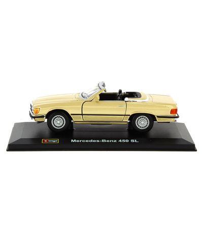 Coche-Miniatura-Merecedes-Benz-450-SL-Oro-1-32
