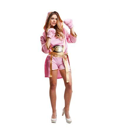 Boxer-Costume-Rosa-Femme