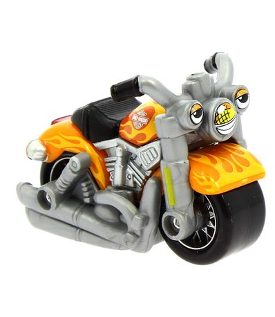 Moto-Harley-Davidson-Naranja-a-Escala-1-64