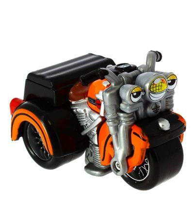 Moto-Harley-Davidson-Trike-Naranja-a-Escala-1-64