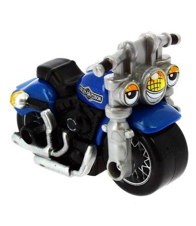 Moto-Harley-Davidson-Azul-a-Escala-1-64
