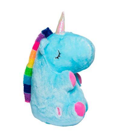 Peluche-Unicornio-Sentado-con-Luz-Azul