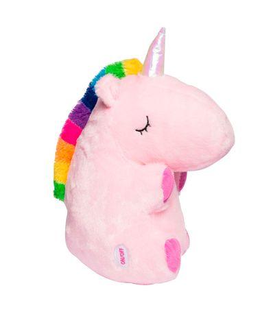 Peluche-Unicornio-Sentado-con-Luz-Rosa