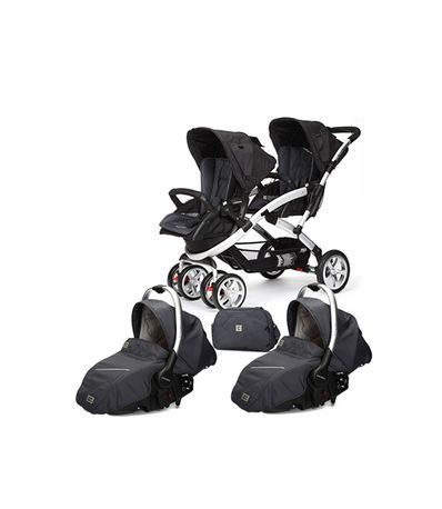 Double-voiture-bebe-Stwinner-Sono-2-pieces-en-metal-Casualplay
