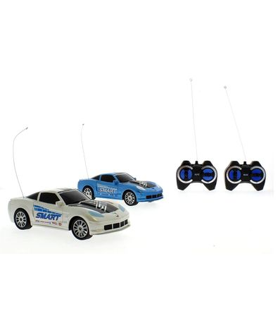Coche-RC-Set-2-Coches-Racing-Gris-Azul