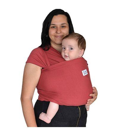 Cachecol-elastico-Porta-bebe-leve-Vermelho