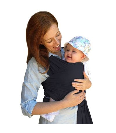Cachecol-elastico-Bamboo-Baby-Carrier-Izmi-Slate