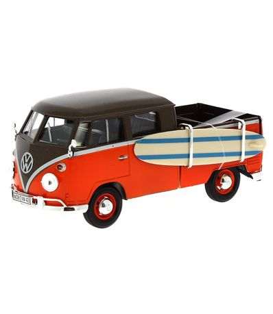 Miniatura-Volkswagen-Van-Marron-Naranja-Surf-1-24