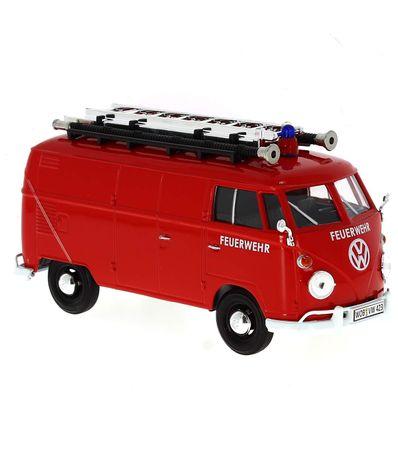 Miniatura-Volkswagen-Van-FEUERWEHR-1-24