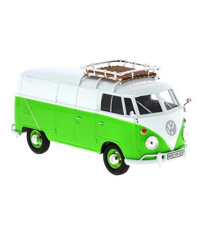 Miniatura-Volkswagen-Van-Verde-y-Blanca-1-24