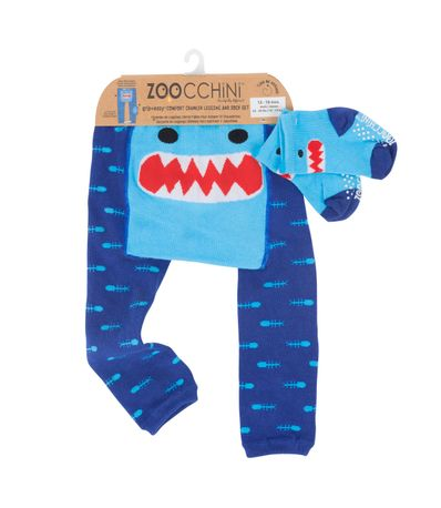 Leggin---Chaussettes-ramper-Shark-6-12-mois