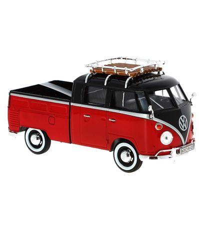 Miniatura-Volkswagen-Van-Roja-Negra-1-24
