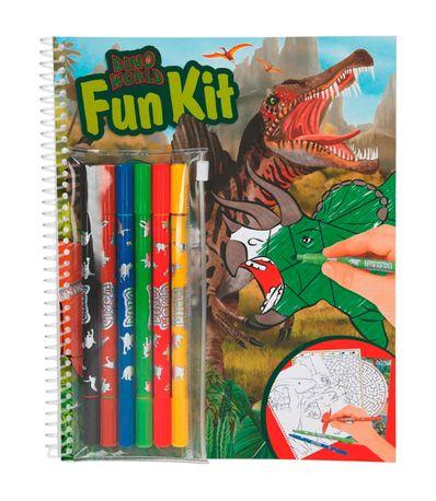 Dino-World-Cuaderno-con-Rotuladores