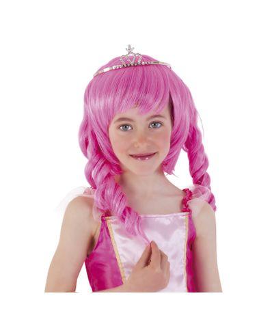 Enfant-Princesse-perruque-Rosa