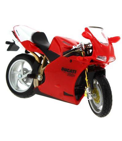 Moto-Miniatura-Ducati-998R-Rojo-Escala-1-18
