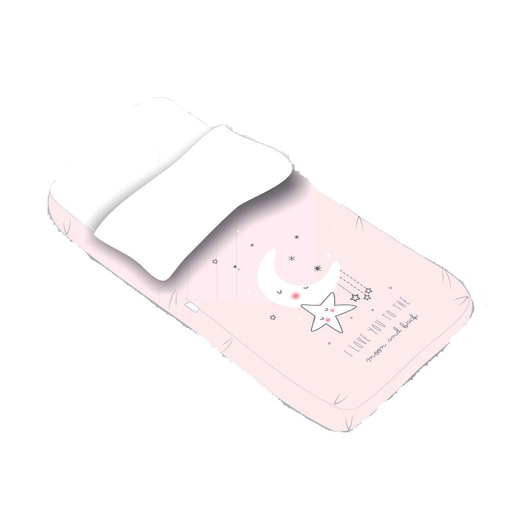 Linge de lit pour bébés Couettes: housses, parures Saco Minicuna 50*80 cm I Love Rosa