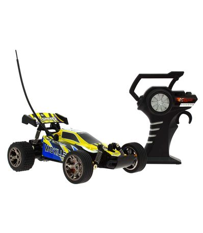 Echelle-de-voiture-jaune-RC-Speed-1-18