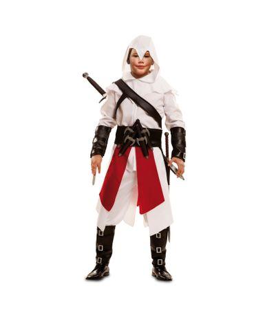 Taille-du-costume-blanc-Guerrier-7-9-ans