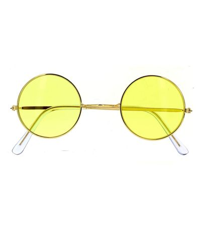 Lunettes-hippies-jaunes