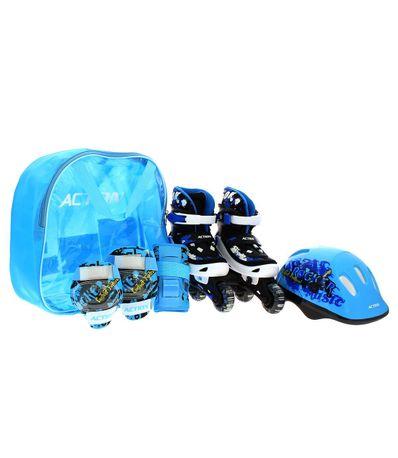 Pack-Patins-com-Protecoes-Azul-Tamanho-39-42