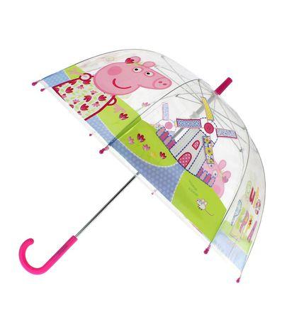 Peppa-Pig-Paraguas-Manual-Burbuja-Rosa