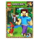 Lego-Minecraft-Bigfig-Steve-com-papagaio