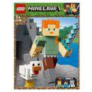 Lego-Minecraft-Alex-com-galinha
