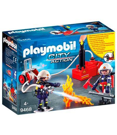 Playmobil-City-Action-Bomberos-con-Bomba-de-Agua