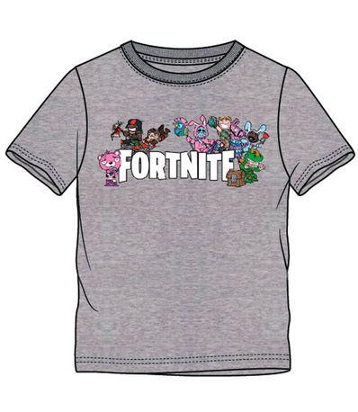 Fortnite-Camiseta-Gris-Personajes