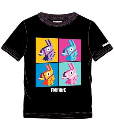 Fortnite-Camiseta-Negra-Llama