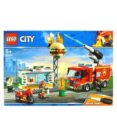 Hamburger-do-fogo-do-salvamento-da-cidade-de-Lego