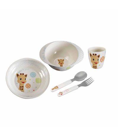 Vaisselle-4-Pieces-Sophie-La-Girafe