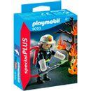 Playmobil-Special-Plus-Pompier-avec-arbre-brulant