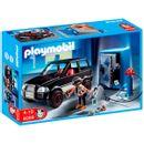 Playmobil-Ladron-de-Caja-Fuerte-con-Coche