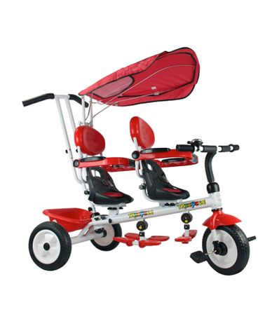 Tricycle-Jumele-Rouge